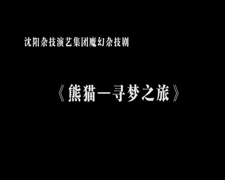 杂技《熊猫--寻梦之旅》1